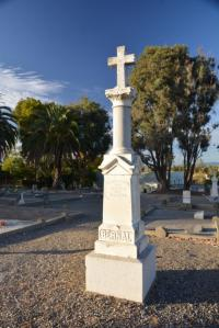 Michelle Suski Dolores Bengston will guide a tour Halloween morning of Pleasanton's Pioneer Cemetery. The cemetery, seen here, dates back to 1850, with most immigrants buried there from Germany, followed by Denmark, the Azores and then 69 other places, mainly from Europe.